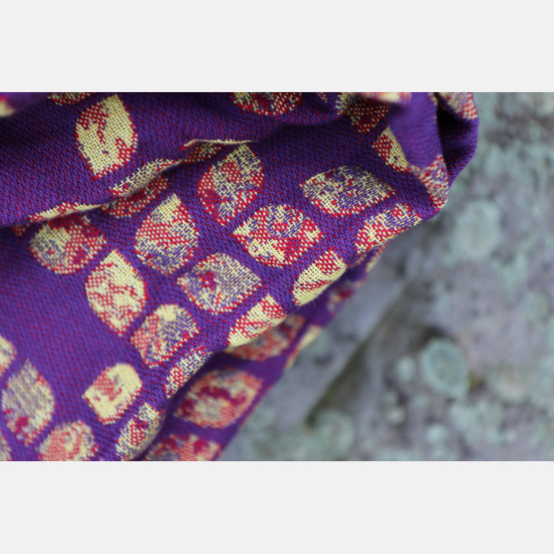 Yaro Petals Ultra Yellow Red Violet Wool Linen