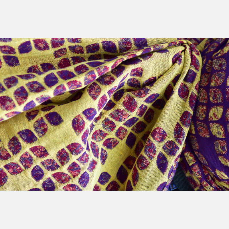 Yaro Petals Ultra Yellow Red Violet Wool Linen Ring Sling