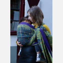 Yaro Meteor Ultra Violet Orange Green Wool Ring Sling