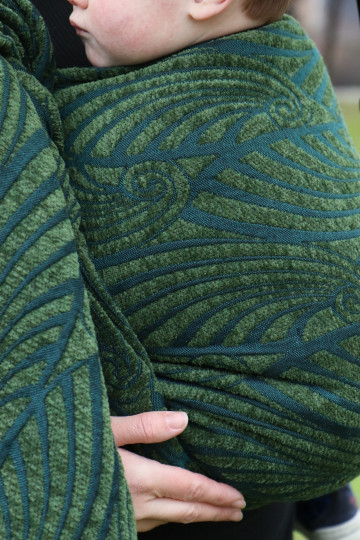 Yaro Dandy Puffy Dark Green Wool Chenille Tencel