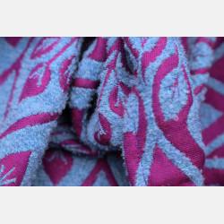 Yaro La Vita Puffy Purple Snow Alpaca Boucle Hemp Ring Sling