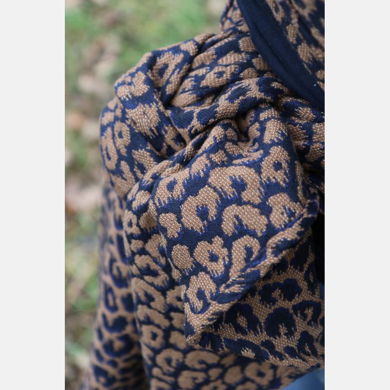 Yaro Pussycat Puffy Mocca Dark-Blue Wool Baby Camel