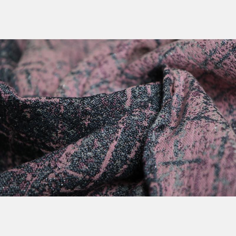 Yaro Sparkling Ultra Pink Grey Linen Glam Ring Sling
