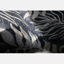 Yaro Oasis Puffy Grey Natural Bourette Glam Ring Sling