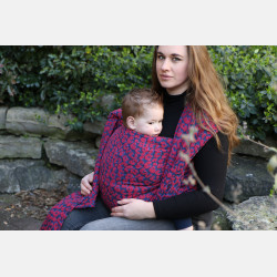 Yaro Pussycat Puffy Red Black Blue Boucle Ring Sling