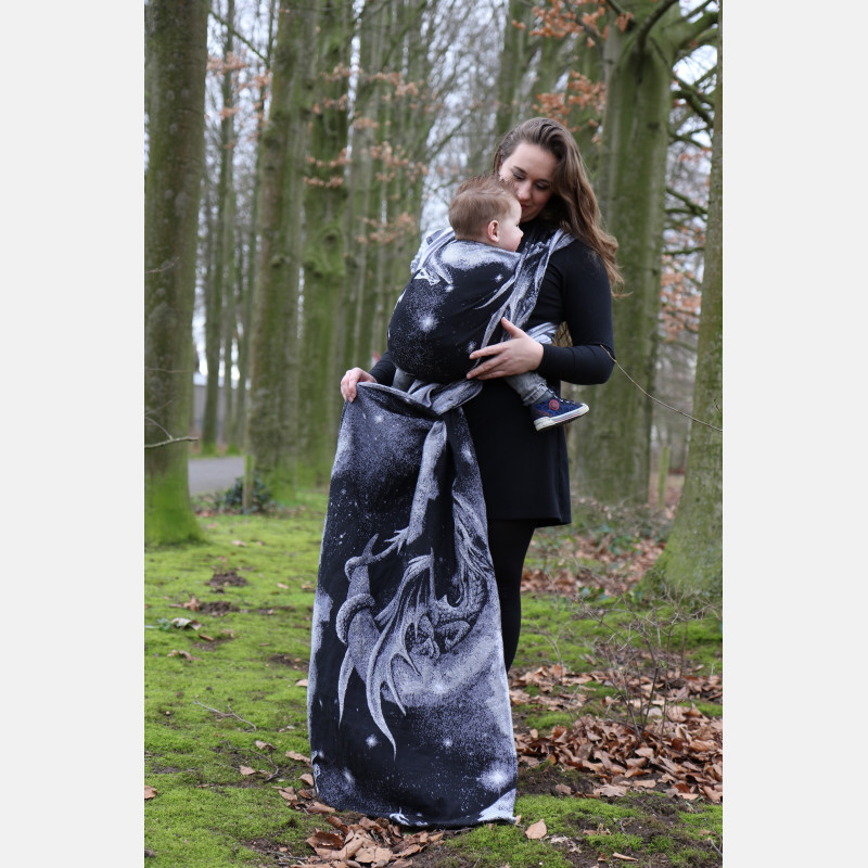 Yaro Moonkeeper Trinity Black Silver Tencel Ring Sling