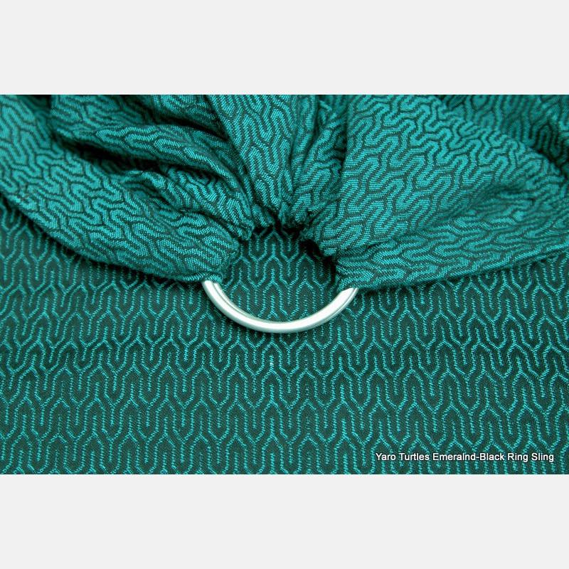 Yaro Turtle Emerald-Black Ring Sling