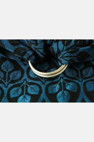 Yaro La Vita Blue-Black Linen Ring Sling