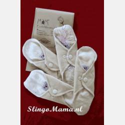 MaM Menstrual Pads Ecofit Cream Line 4 Mini