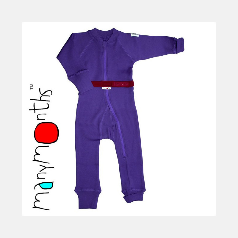 ManyMonths Wool One Piece Suit Purple Peace