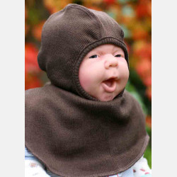 ManyMonths Elephant Hood Chocolate Brown
