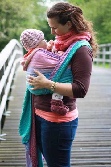 Yaro Braid Spring Sunrise Grad Repreve Ring Sling